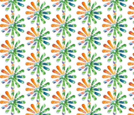 Orange Flower fabric by countrygarden on Spoonflower - custom fabric