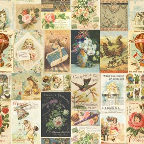 Shabby Chic Vintage Ephemera Collage