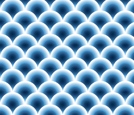 coquille bleu fabric by nadja_petremand on Spoonflower - custom fabric