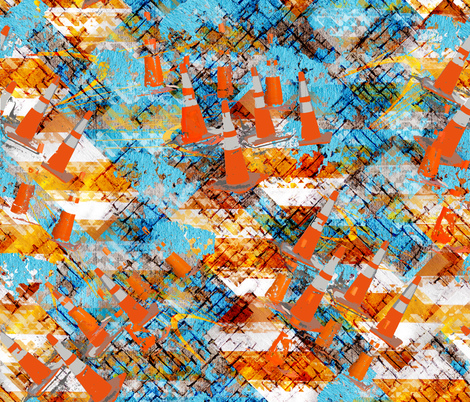 Submission for Urban Sightings fabric by cityscraper on Spoonflower - custom fabric