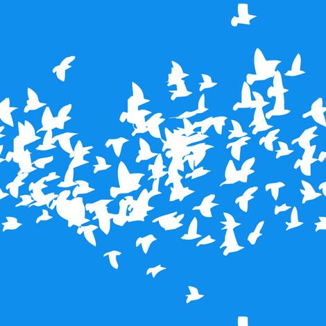 starlings-blue fabric by creative_merritt on Spoonflower - custom fabric