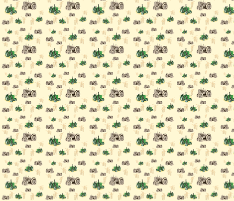 Tractor fabric by little_seedling on Spoonflower - custom fabric