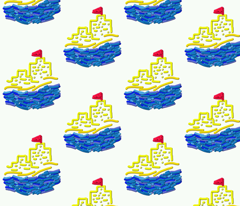 Sandcastle by the Sea fabric by anniedeb on Spoonflower - custom fabric