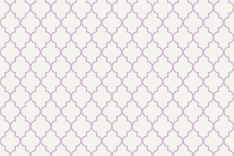 Lavender Ogee fabric by willowlanetextiles on Spoonflower - custom fabric