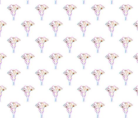 Giraffe Doodle fabric by mudballmermaid on Spoonflower - custom fabric