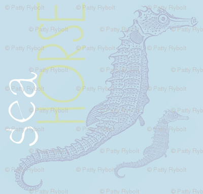 Seahorse (light blue)