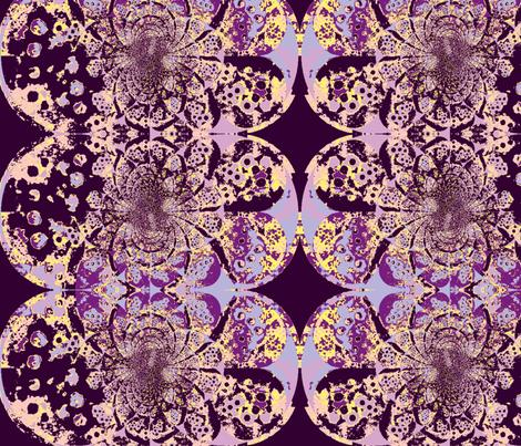 beaded earring in purple big fabric by kari's_place on Spoonflower - custom fabric