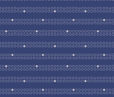 ordered bubbles in navy fabric by circlesandsticks on Spoonflower - custom fabric