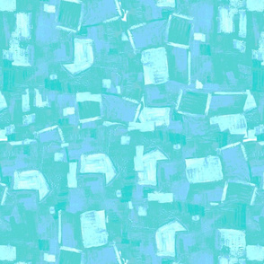 Abstract Village Turquoise