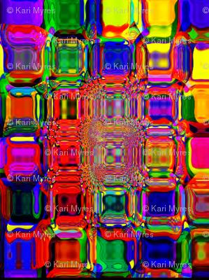 multi color square pattern