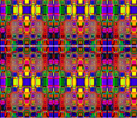 multi color square pattern fabric by rumas on Spoonflower - custom fabric