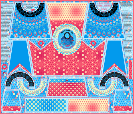 Beachy Bucket Tote - A Cut & Sew Pattern fabric by coggon_(roz_robinson) on Spoonflower - custom fabric