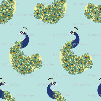 Peacocks by Anna See