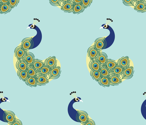 Peacocks by Anna See fabric by annasee on Spoonflower - custom fabric