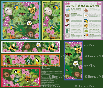 Animals of the Rainforest: Bag