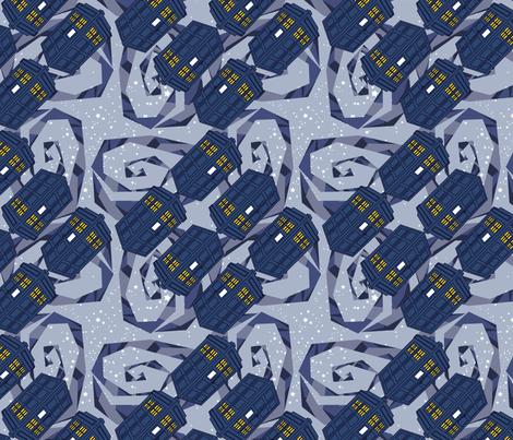 Blue Box - Blue Galactic Swirl fabric by thirdhalfstudios on Spoonflower - custom fabric
