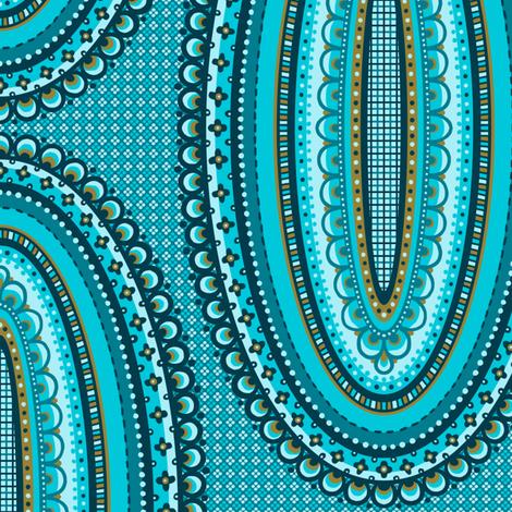 Ornamental Ovals fabric by siya on Spoonflower - custom fabric
