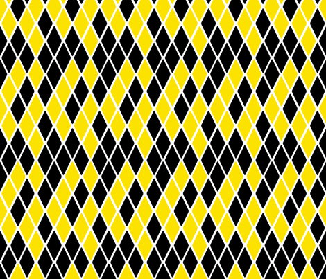 Harlequin Bumble Bee fabric by glanoramay on Spoonflower - custom fabric