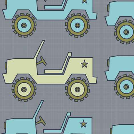 jeep_blanket_gray fabric by petunias on Spoonflower - custom fabric