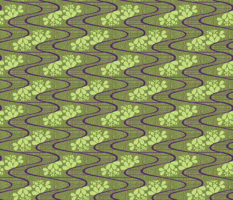 urban_meanderings_on_a_green_day fabric by glimmericks on Spoonflower - custom fabric