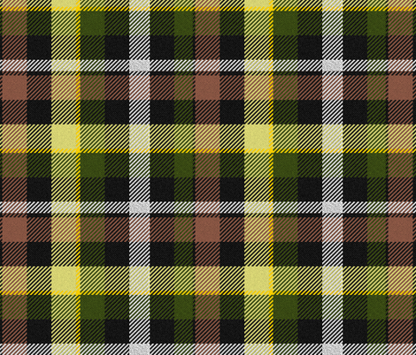 Brown Yellow and Green Plaid fabric by eclectic_house on Spoonflower - custom fabric