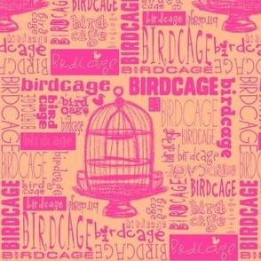Birdcage Type! (Pink & Peach)