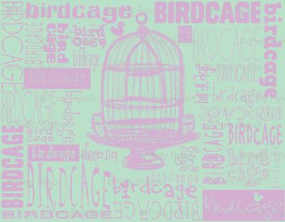 Birdcage Type! (Lilac & sea green)