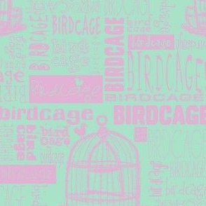 Birdcage Type! (Lilac & sea green)