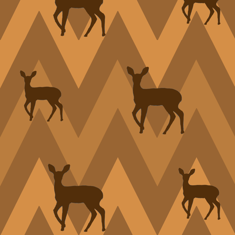 Deer & Chevron  fabric by carrie_narducci on Spoonflower - custom fabric