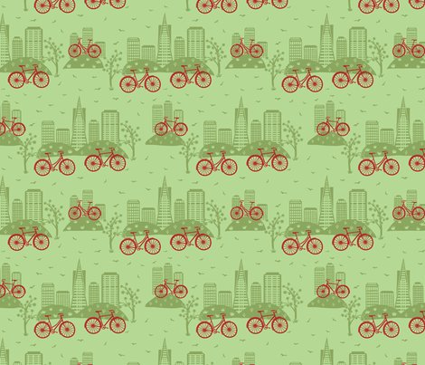 Rrrcity_bikes_red_on_green_rev_color_shop_preview