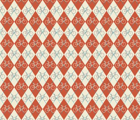 Argyle Bikes fabric by christy_kay on Spoonflower - custom fabric