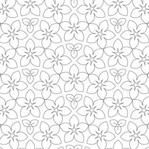 01056095 : U53 flowers : outline