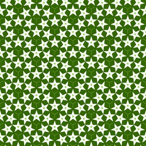 U53 V1 star flowers fabric by sef on Spoonflower - custom fabric