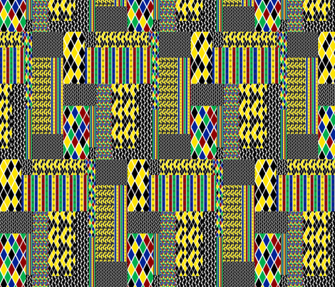 Harlequin Patchwork cheater fabric by glanoramay on Spoonflower - custom fabric