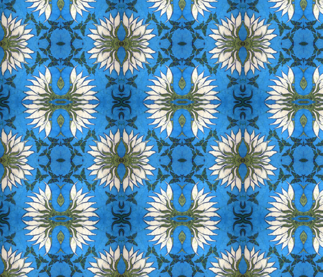 lotus, variation 3 fabric by hooeybatiks on Spoonflower - custom fabric