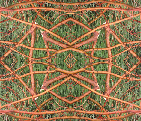 Twigs and Grass fabric by anniedeb on Spoonflower - custom fabric