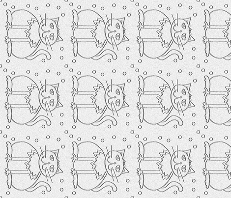Fat cat friendly  fabric by luckyrobin on Spoonflower - custom fabric