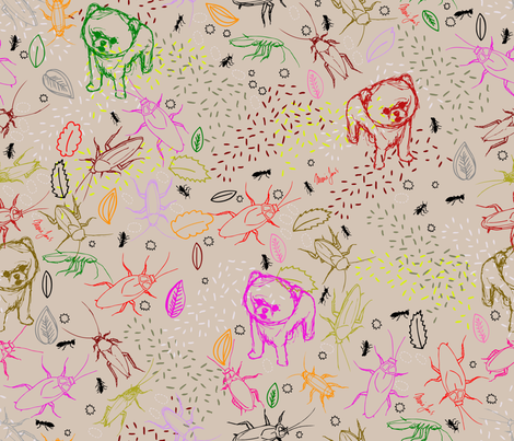 Cute liitle friends! fabric by marie-j on Spoonflower - custom fabric