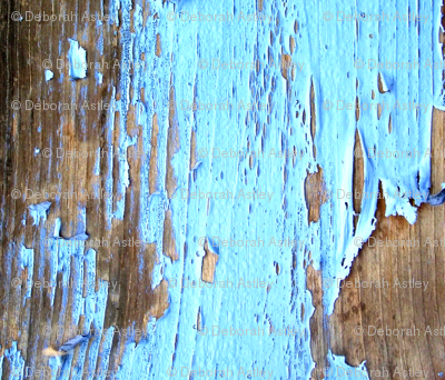 Chipped Blue Paint