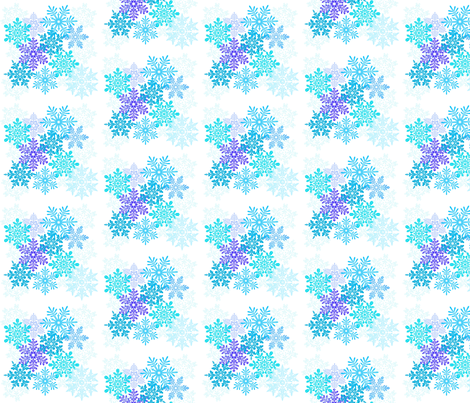 Snowflakes fabric by gg33 on Spoonflower - custom fabric