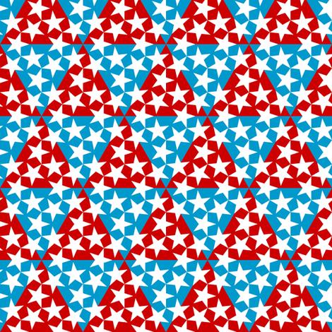 U53 V1 triangle patriot fabric by sef on Spoonflower - custom fabric