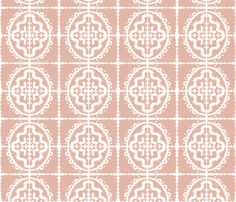 bumpy wonky tile (E3B7A7 blush) fabric by pattyryboltdesigns on Spoonflower - custom fabric