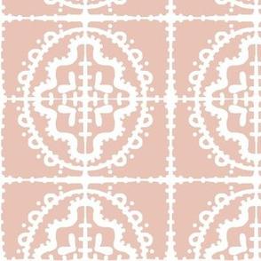 bumpy wonky tile (E3B7A7 blush)