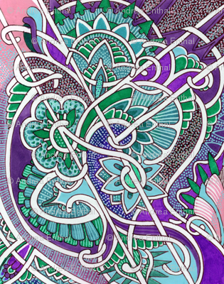 Aqua and Purple Crossing