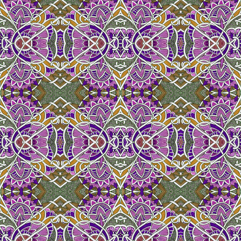Bless Their Pointy Floral Heads fabric by edsel2084 on Spoonflower - custom fabric
