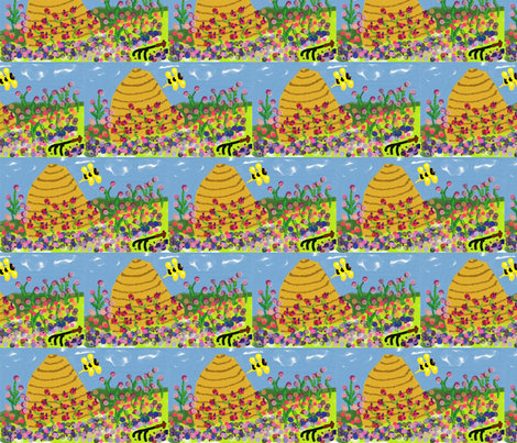 gardening in the clouds fabric by jellybeanquilter on Spoonflower - custom fabric