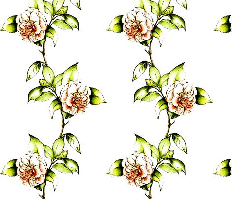 Coral Camellia Kerstin's Stripe fabric by colorwayart on Spoonflower - custom fabric