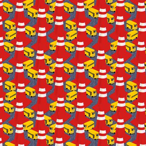SCHOOL DAZE MAZE fabric by glimmericks on Spoonflower - custom fabric