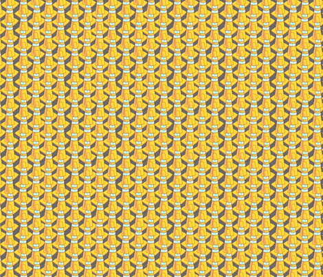 traffic cones golden glow fabric by glimmericks on Spoonflower - custom fabric