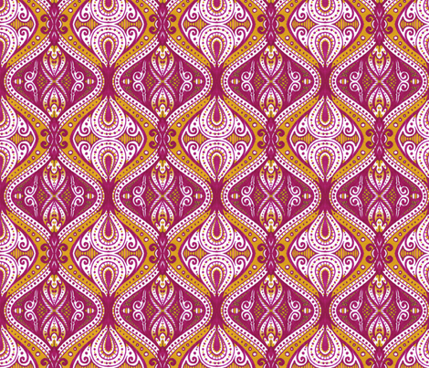 Dacia (Gold and Wine) fabric by siya on Spoonflower - custom fabric